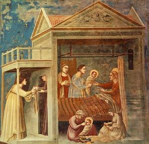 Narodzenie NMP - Giotto di Bondone