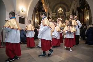 Ministranci w Sanktuarium Mirowskim