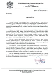Apel komendanta PSP w PIńczowie